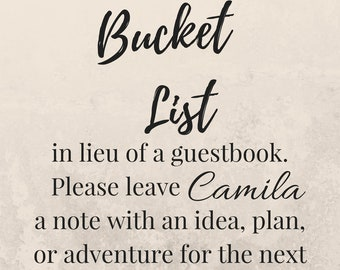 Bucket List - Graduation