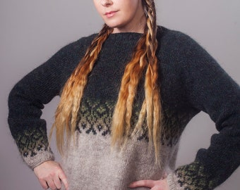 Moss - Sweater pattern and instructions