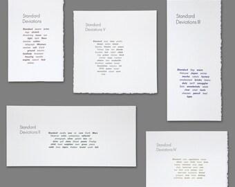 Standard Deviations Set: Letterpress Poetry