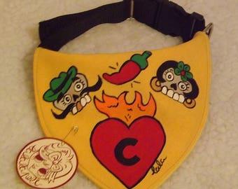 "Dog handkerchief ""Mexican Skulls"""