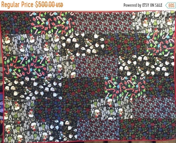 Hot Summer Sale Atlanta Snow Day 54x72 inch holiday lap quilt