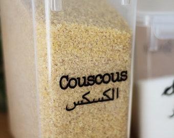 7 transparent labels to personalize Arabic/Typewriter / Nadja love