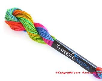Rainbow Embroidery Floss Variegated ThreadworX 1154 Bradley's Balloons