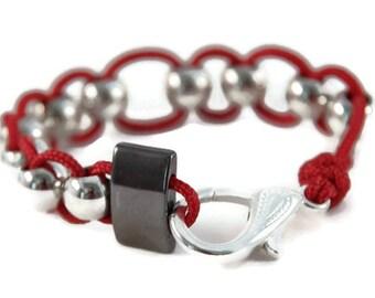 Red Anxiety Bracelet, Fidget Bracelet, Fidget Jewelry, Anxiety Jewelry, Sensory Bracelet, Stim Jewelry, Autism Bracelet, Calming Jewelry