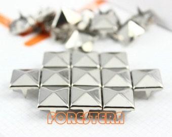 12mm Silver Pyramid Stud Punk Rock Leathercraft Stud (SP12)