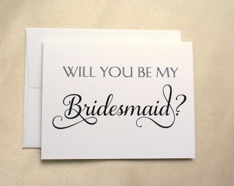 Will you be my Bridesmaid Card / Bridesmaid Card / Tree Free, 100% Cotton Cardstock