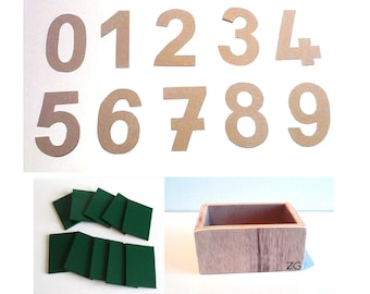 KIT manufacturing numbers rough Montessori (DIY Montessori)