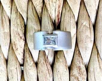 Matte Sterling Silver Ring