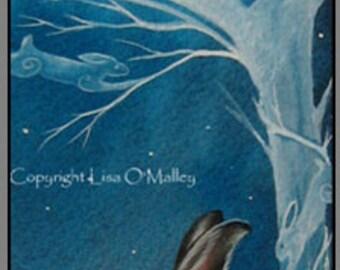 "Hare Print "" Ancestral Magic"""