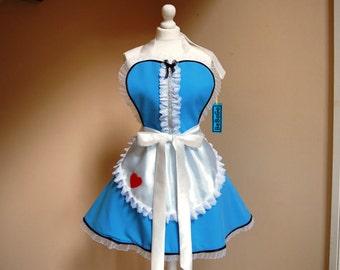 Alice in Wonderland apron,cosplay Alice apron