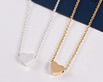 Julia gold plated heart love pendant necklace love jewelry romantic women cute gift