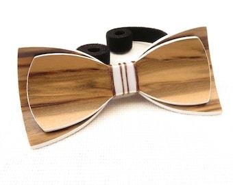 Beautiful Wood Bow Tie 0015