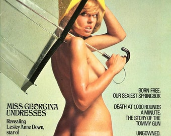 Mayfair Magazine  1975 British  Nude Lesley Anne Down  On Cover & Foldout: Susan Nell  More revealing images of Gorgeous Women  mature