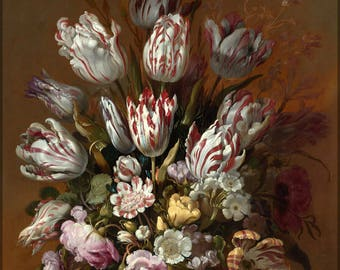 Poster, Many Sizes Available; Still Life With Flowers By Hans Bollongier
