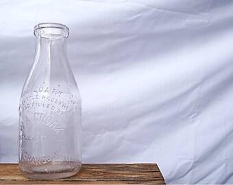 Vintage W.A. Croak Milk Jug - Rustic Milk Bottle - Rare Quart Milk Bottle - W.A. Croak Quart Bottle - Collectible Milk Bottle