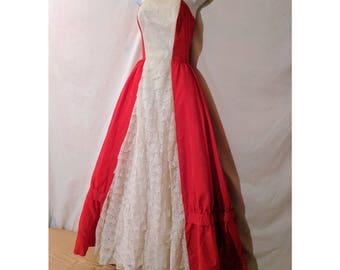 Rare Vintage 1960's Taffeta Ballgown