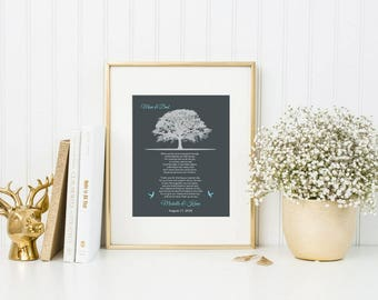Personalized Gift | Thank You Gift Wedding Gift For Parents | Custom Poem Print | Mother Of The Bride Gift From Daughter | Canvas Art -46777