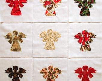 Quilt Blocks Appliqued Christmas Angels
