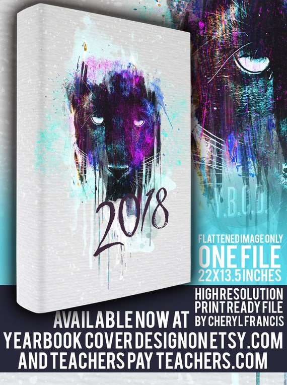 yearbook cover design 2018 painted panther