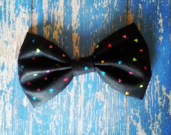 Colorful Hearts Hair Bow