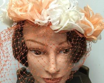 Peach vintage hat