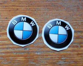 2 BMW-style Motors die cut stickers decals bumper vinyl window sticker