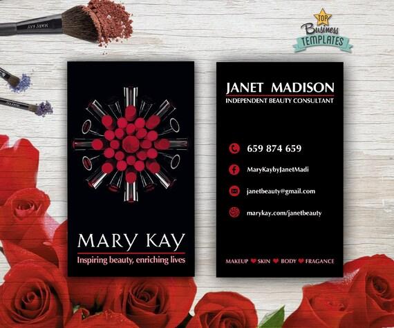 Mary Kay Cards Printable Mary Kay Branding Beauty - Mary kay business card template