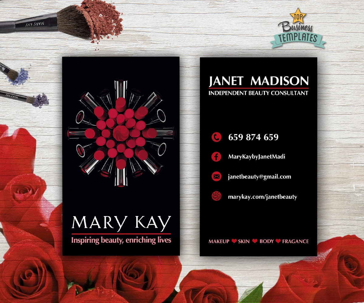 Mary Kay Cards Printable Mary Kay Branding Beauty