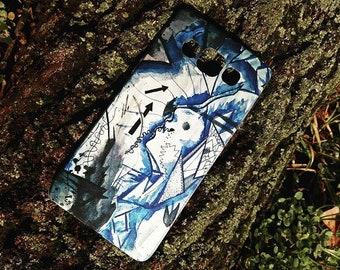 Phone case iphone graphic art blue design