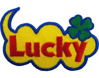 Lucky Patch Four Leaf Clover Sew / Iron On Badge Ireland St Patricks Day Irish
