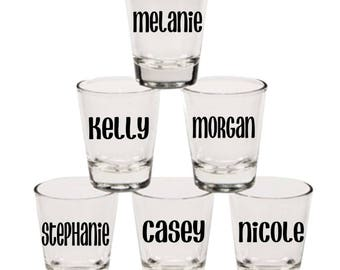 Custom Shot Glasses | Personalized Shot Glasses | Bridesmaids Gift | Wedding | Bachelorette Party | Wedding Gift | Wedding Party Gift