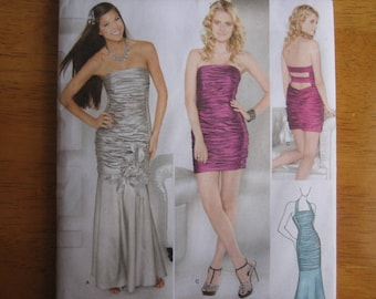 Simplicity Pattern 1907 Jessica McClintock Misses' Special Occasion Dress in Two Lengths     2012     Uncut