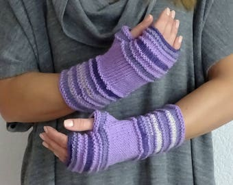 knit fingerless gloves, arm warmers, fingerless mitts, wrist warmers, hand warmers, knit gloves, knit mittens, wool gloves, ready to ship