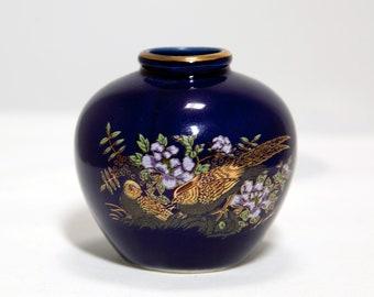 Japanese Blue Cobalt Vase