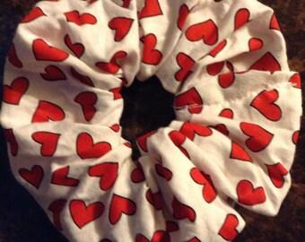 Hair scrunchie heart Valentine's Day