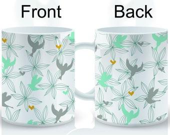 Birds Flying Wrap Mug