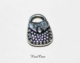 15 x acrylic purse charms silver color