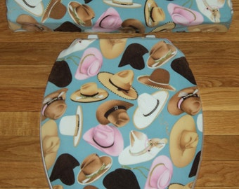 Cowgirl Hats ...Toilet Seat Cover Set