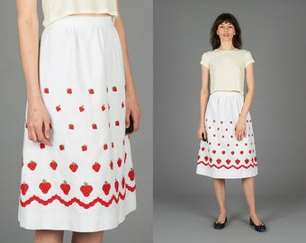60s Strawberry Skirt