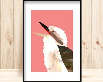Australiana Printable, Laughing Kookaburra Print, Printable Nursery Art, Australian Bird Wall Art, Kookaburra Print, Iconic Australian Print