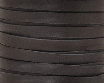 Leather Lace-3mm Deerskin Lace-Black-2 Yards