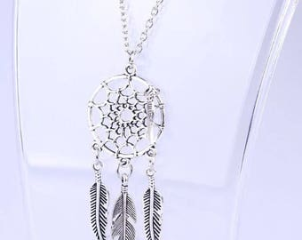 Dream catcher pendant , dream catcher necklace