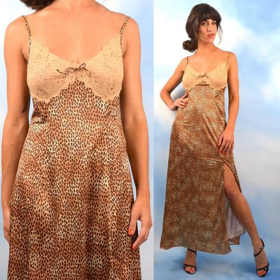 Vintage 70s 80s Vanity Fair Leopard Print Dressing Gown (size small, medium)