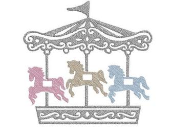 carousel machine embroidery design