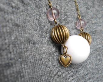 Necklace • BORASO • pink / bronze