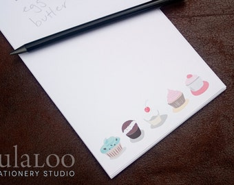 Cupcakes Personalized Notepad