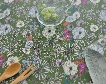Laminated Cotton Fabric - Gardening Green - By the Yard 83287