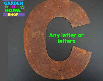 """2"""" Rusted Metal Letters"""
