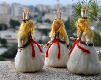 Needle felted  Waldorf Santa Lucia. Made for custom order