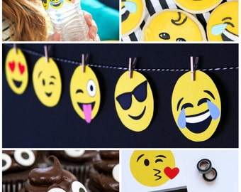 COMBO PACK: Emoji Birthday Party - Instant Download Party Decor
